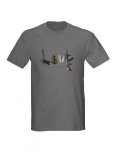 Browning Hi-Power Grenade Pocket knife Ak47 spell Love T-Shirt